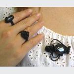 Šperky a bižuterie: Brož - polodrahokam