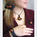 Šperky a bižuterie: Oranžová sklíčka