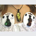 Šperky a bižuterie: Přívěsek s velkým sklem