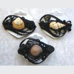 Šperky a bižuterie: Spona do vlasů 6 cm - mušle