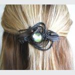 Šperky a bižuterie: Spona do vlasů 6 cm - sklíčko