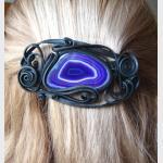 Šperky a bižuterie: Spona do vlasů 8 cm - achát