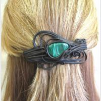 Spona do vlasů 8 cm - malachit(0)