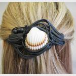 Šperky a bižuterie: Spona do vlasů 8 cm - mušle