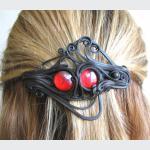 Šperky a bižuterie: Spona do vlasů 8 cm - sklíčko